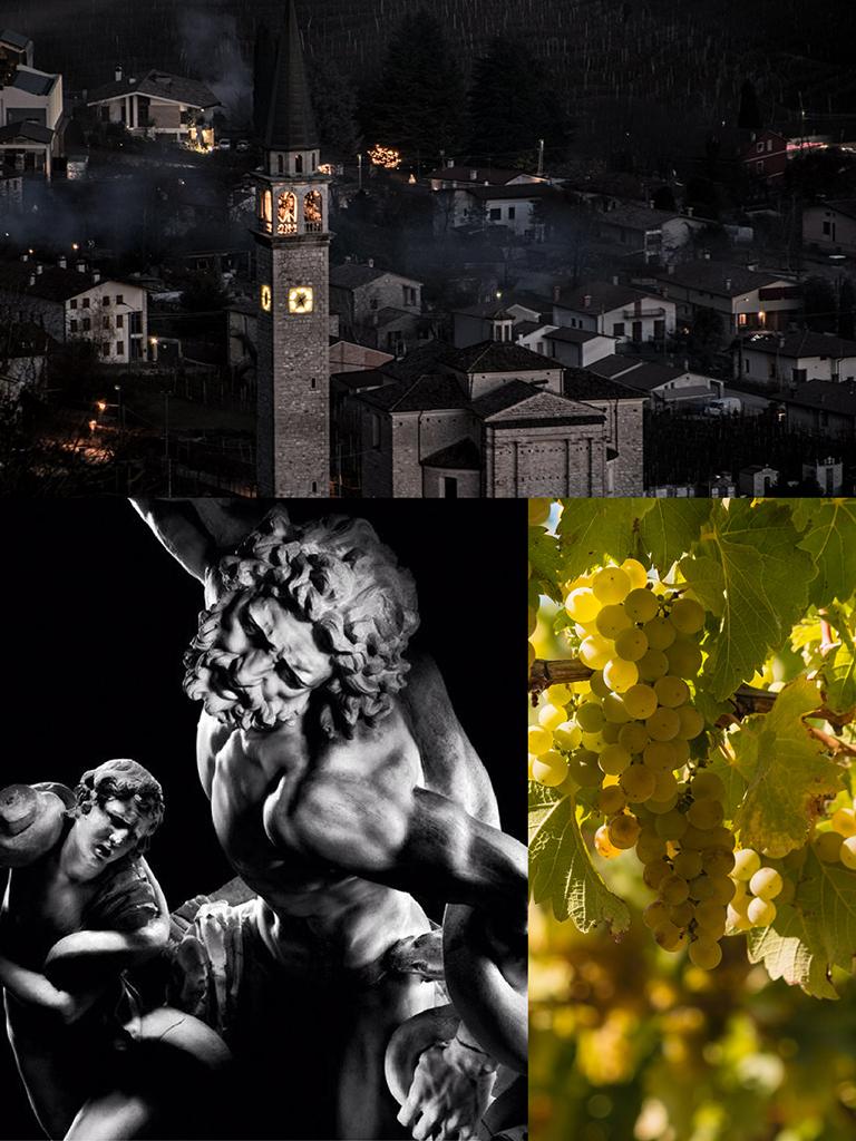 900 wine: composizione rappresentante le caratteristiche del prosecco DOCG Valdobbiadene Superiore